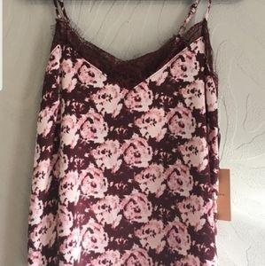 Halogen Lace Floral Camisole Size Medium M
